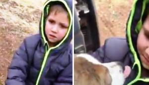 Niño encontro a su perrito portada