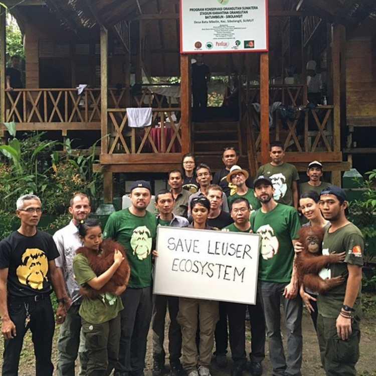 Leonardo DiCaprio Santuario Indonesia 1