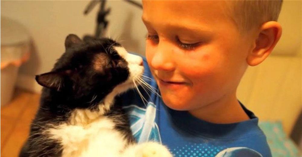 Dexter tenía 20 años y por fin fue adoptado por un niño que lo amó hasta su último suspiro