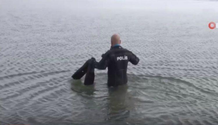 Rescate perro lago congelado Turquía