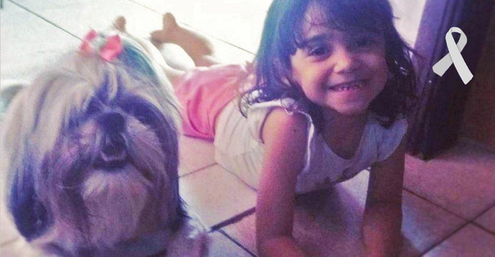 Una niña de 8 años llora la pérdida de su amada perrita que murió intentando salvarla