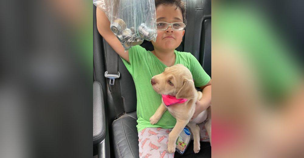 «Papá, este dinero es para pagar» – Lleva sus ahorros en una bolsa para pagarle al veterinario