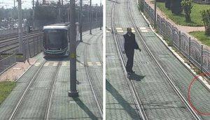Conductor detiene el tren solo para ayudar a una diminuta tortuga en las vías