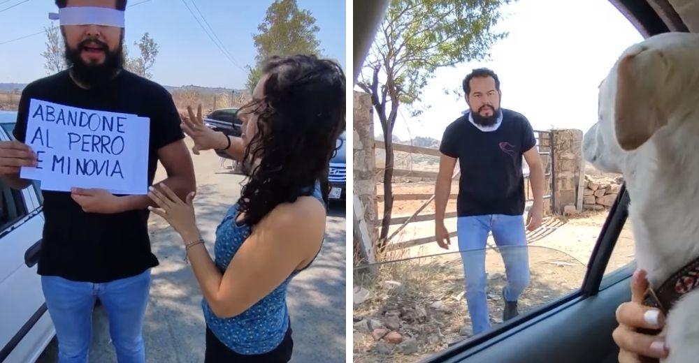 Un hombre abandona a la perrita de su novia por no ser de raza, ella se entera y se venga