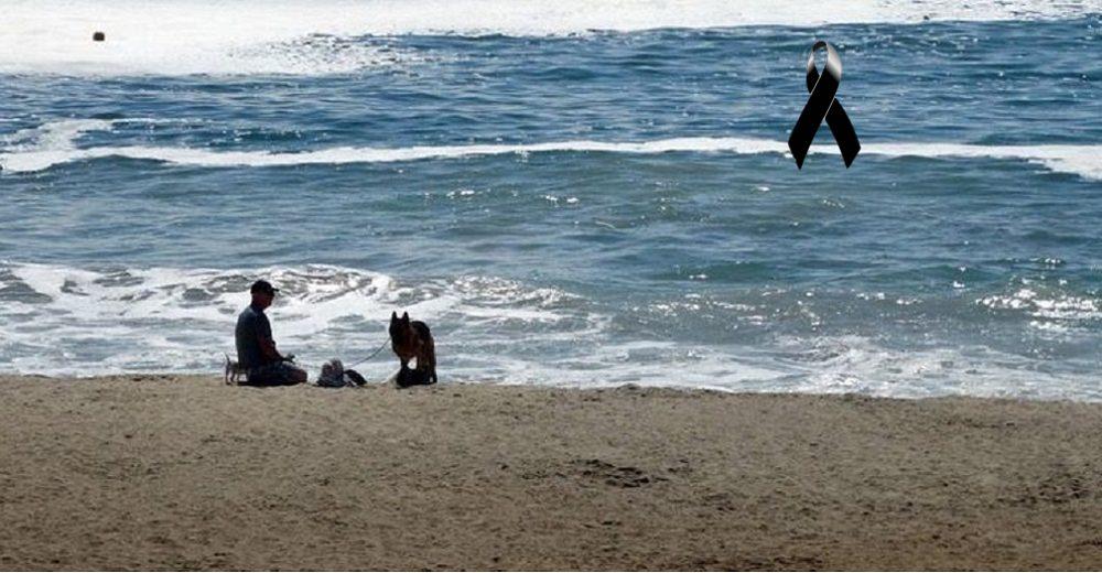 Logra salvar a su perrito que se ahogaba en el mar, pero él no pudo sobrevivir